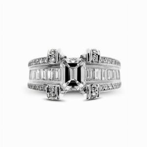 Emerald Cut Engagement Ring 0.92ct GVVS1 HRD